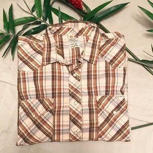XXL Lucky Brand Western Plaid Long Sleeve